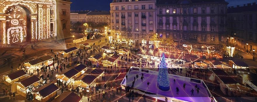 basilique St Etienne marché Noel Budapest