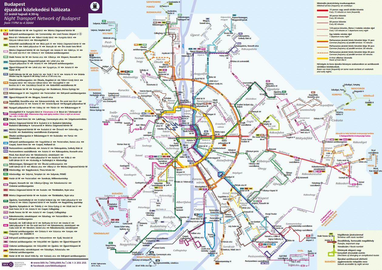 Transports publics nocturnes de Budapest