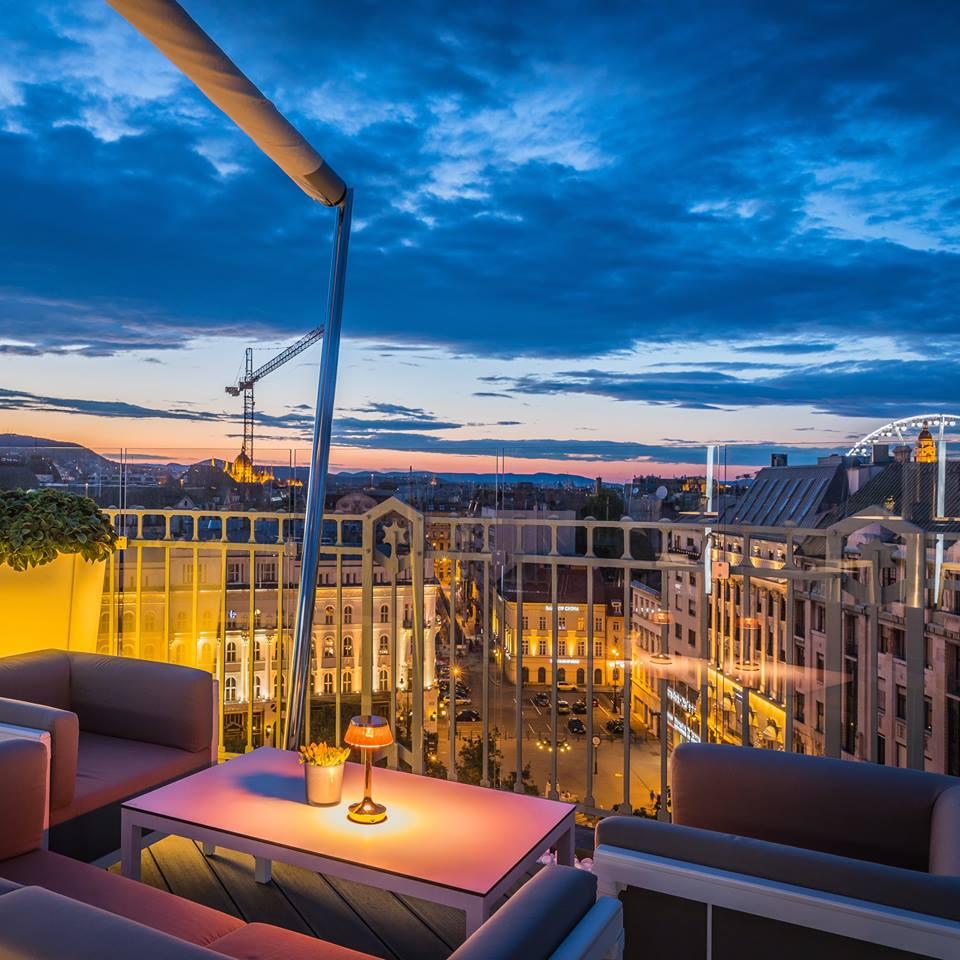 St Andrea Wine Sky bar Budapest