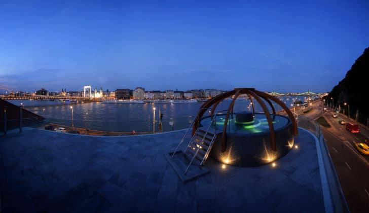 bains Rudas nuit Budapest