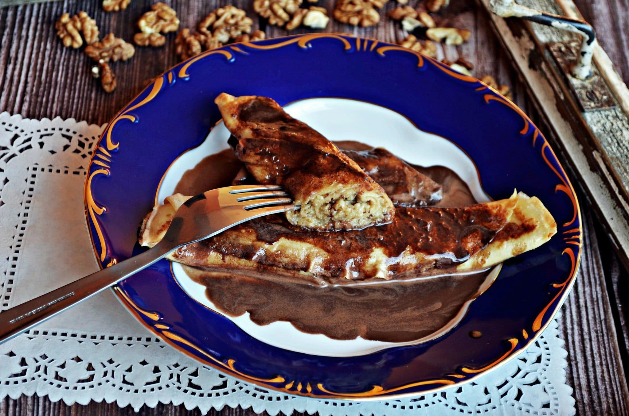 pâtisseries hongroises - crepe Gundel palacsinta
