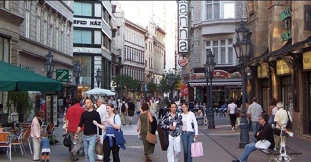 Rue Váci à Budapest