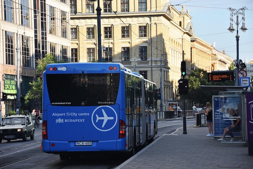 bus aéroport de budapest 100E Astoria