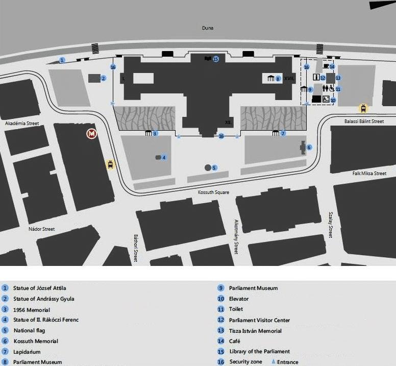 plan parlement de Budapet