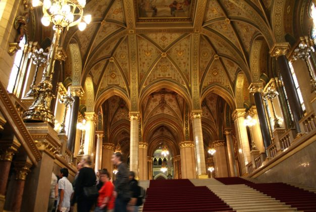 intérieur parlement de Budapest