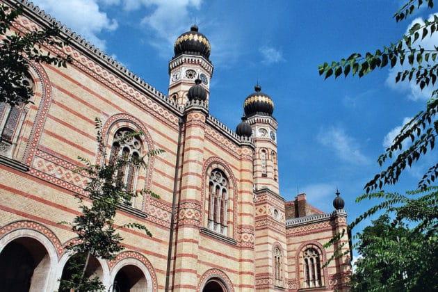 extérieur synagogue de Budapest