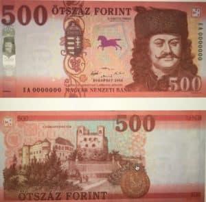 changer argent en Hongrie 500