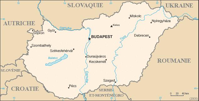 Carte Hongrie